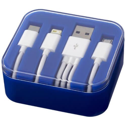 Cabluri 3 in 1 B134262 albastru