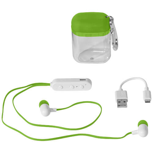 Casti bluetooth B134239 verde lime