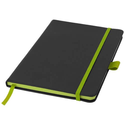 Notes 106907 negru cu elastic verde lime