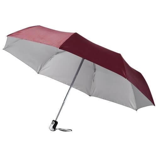 Umbrela B109016 burgundy cu argintiu