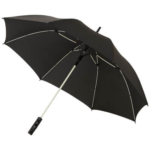 Umbrela B109087 neagra cu model alb