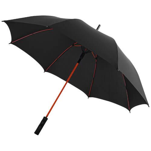 Umbrela B109087 neagra cu model rosu