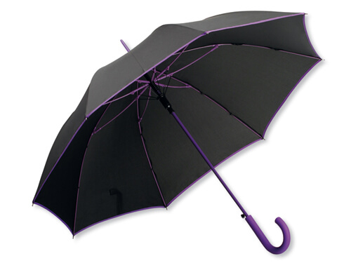 Umbrela B31129 neagra cu purple