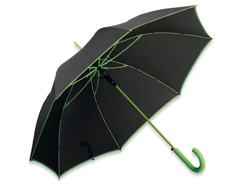 Umbrela B31129 neagra cu verde reflectiv