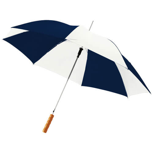 Umbrela automata B109017 alb cu albastru navy