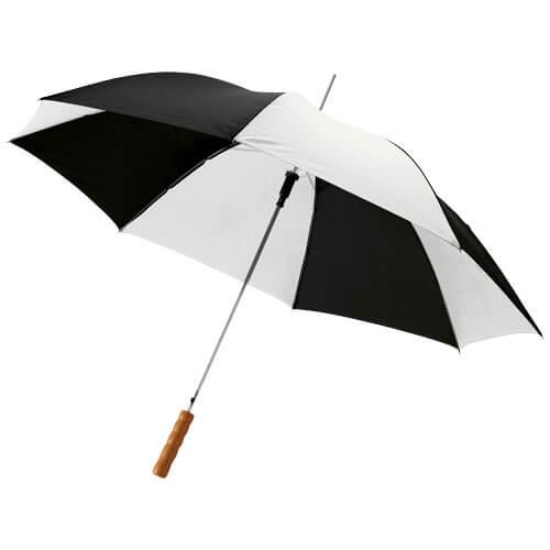 Umbrela automata B109017 alb cu negru