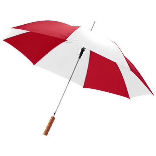 Umbrela automata B109017 alb cu rosu