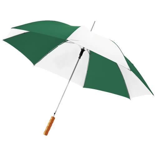 Umbrela automata B109017 alb cu verde