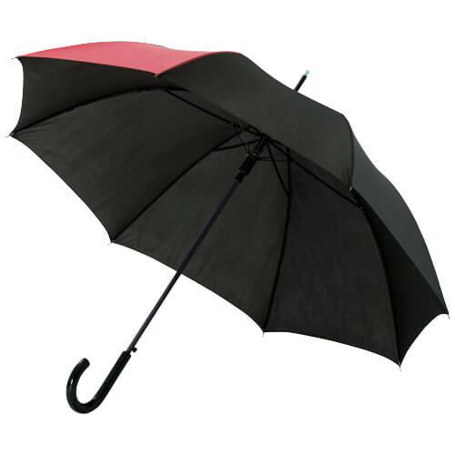 Umbrela automata B109100 neagra cu rosu