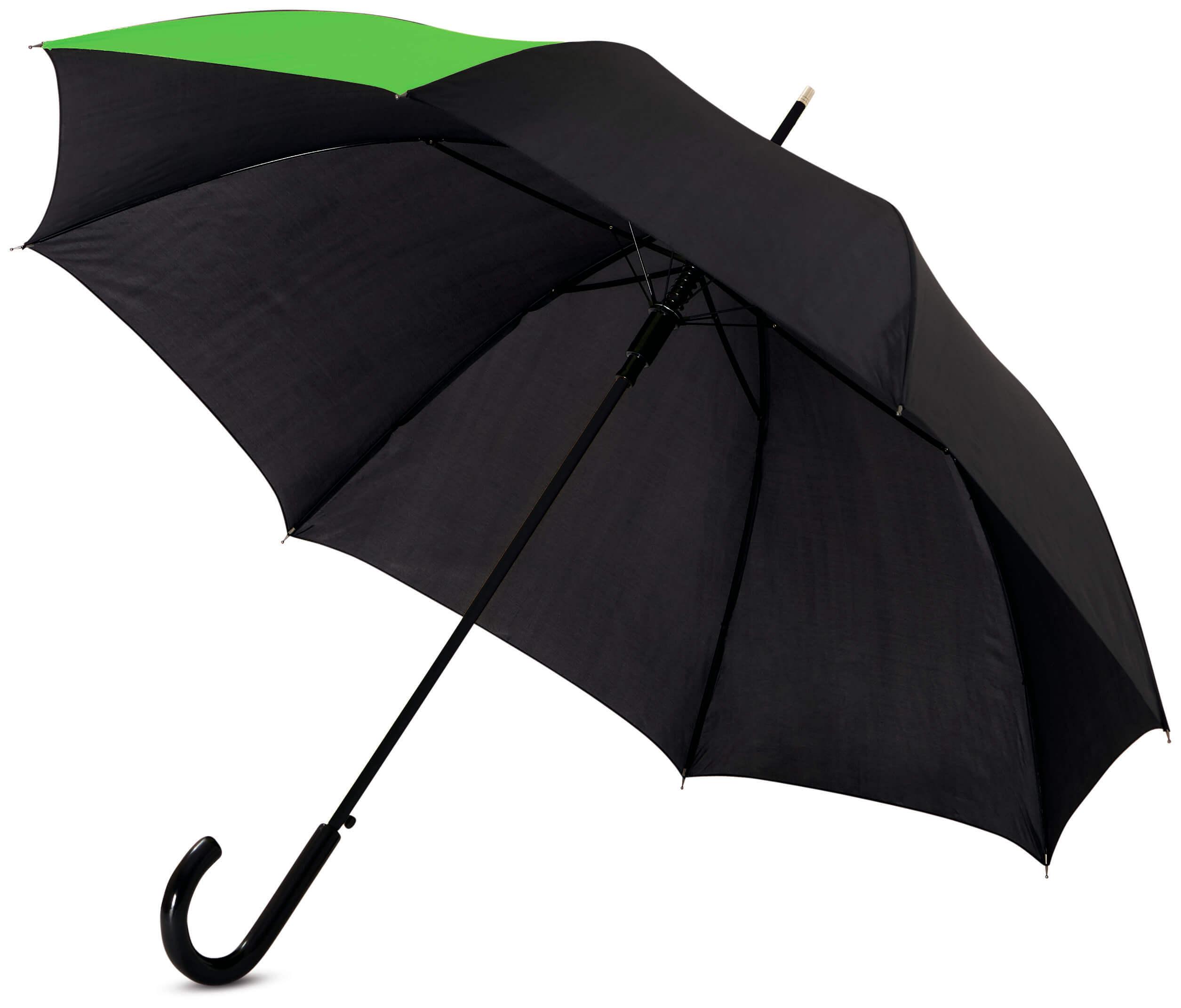 Umbrela automata B109100 neagra cu verde lime
