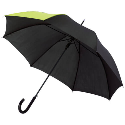 Umbrela automata B109100 neagra cu verde neon