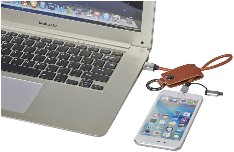 cablu de incarcare 3 in 1 B123723 prins de laptop