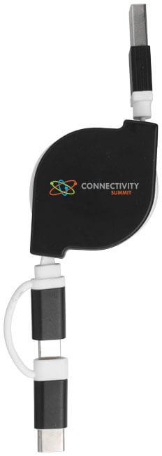 cablu de incarcare 3 in 1 B134259 negru personalizat
