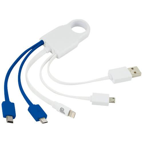 cabluri 5 in 1 B134202 alb cu albastru