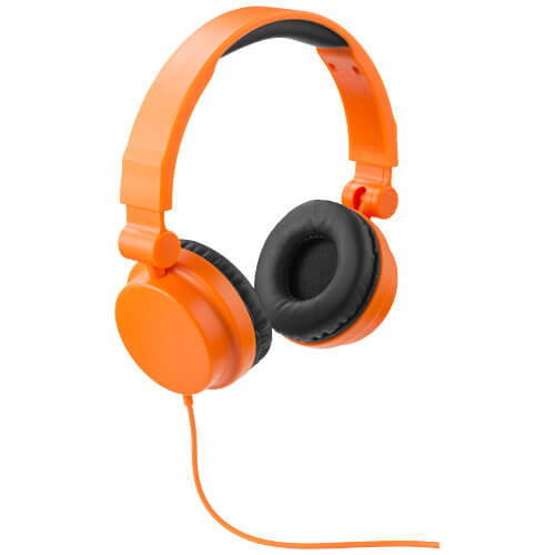 casti audio B108255 portocalii