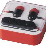 casti audio bluetooth B134263 rosii