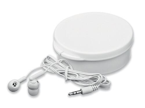 casti audio in cutie B45273 alba