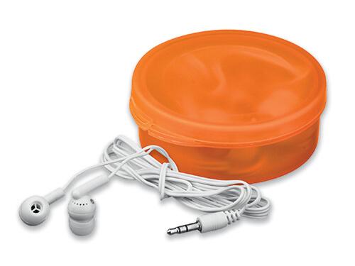 casti audio in cutie B45273 portocalie