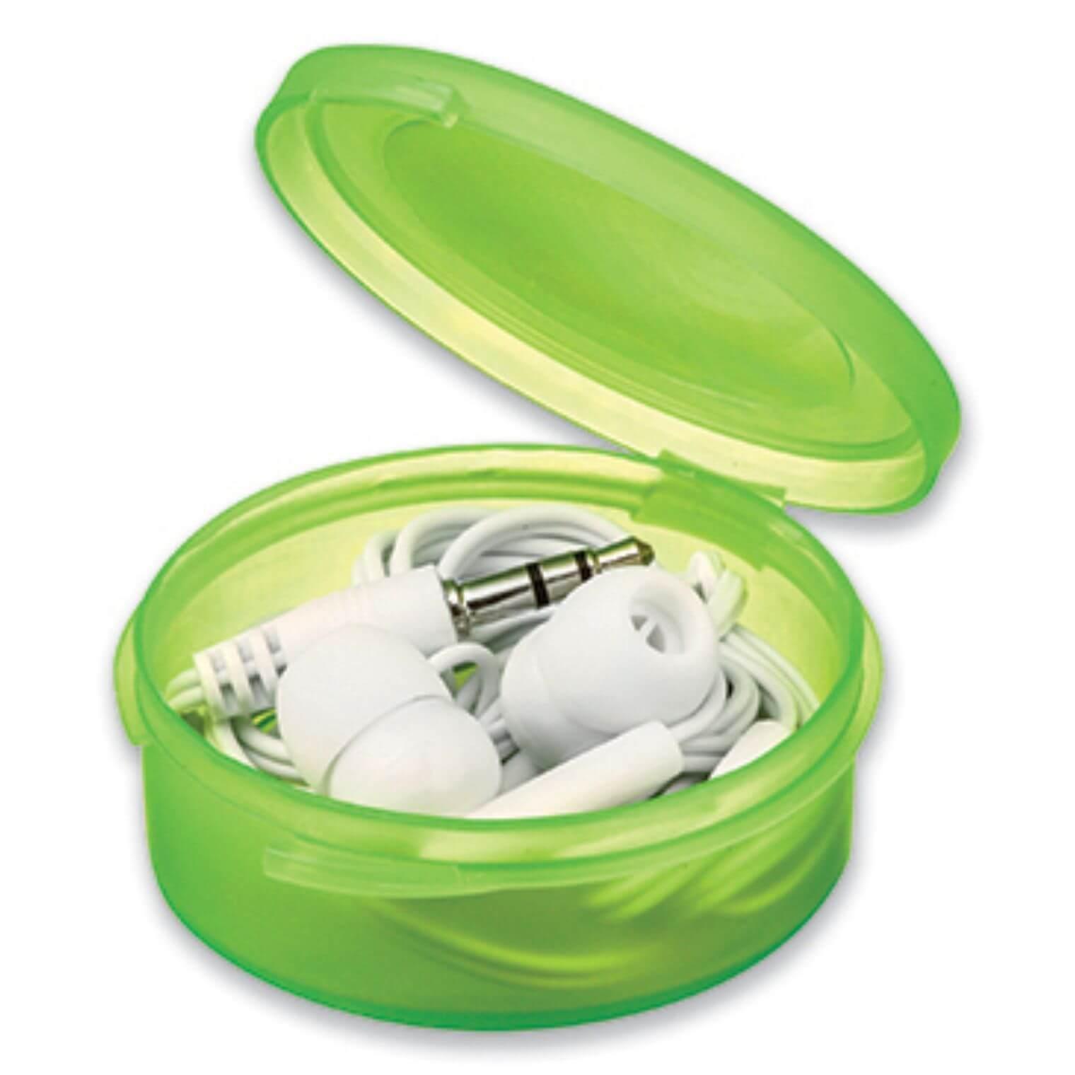 casti audio in cutie B45273 verde