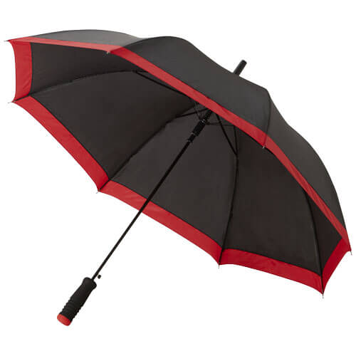 umbrela B109097 neagra cu rosu