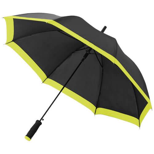 umbrela B109097 neagra cu verde neon