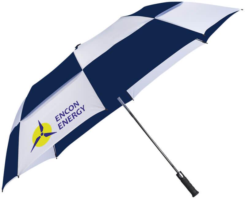 umbrela SLAZENGER B109114 alb cu albastru personalizata